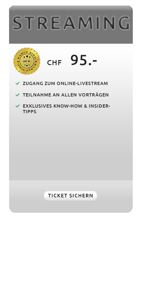 Angebot - Streaming - Swiss Sales Forum 2019